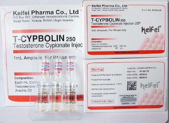 KEIFEI T-Cypbolin (Testosterone Cypionate) 3 x 250mg